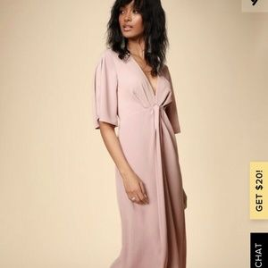 LULUS MY TYPE BLUSH PINK MIDI DRESS - NWT - SMALL